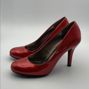 9&Co Red Shiny Heels, 8